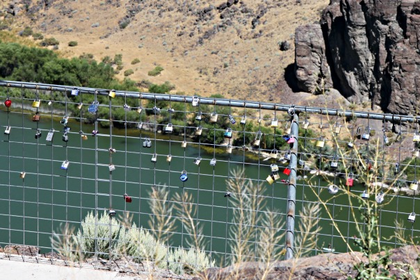 Shoshone Falls Snake River Love Locks Stronglikemycoffee.com