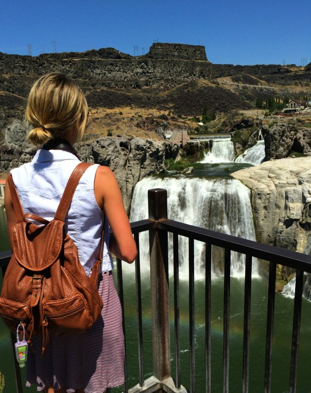 Shoshone Falls Waterfall Selfie Stronglikemycoffee.com
