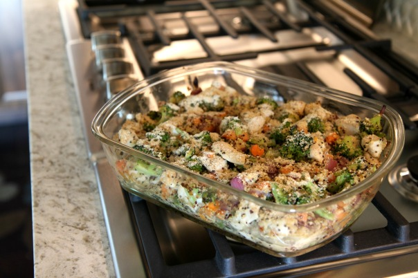 Chicken Quinoa Veggie Bake Clean Recipe on Stronglikemycoffee.com
