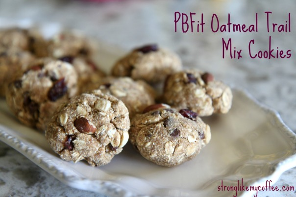 PBFit Oatmeal Trail Mix Cookies on Stronglikemycoffee.com