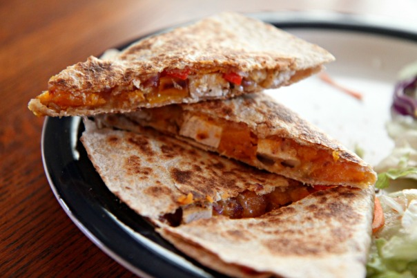 Roasted Vegetable and Chicken Quesadillas Recipe Stronglikemycoffee.com Blog